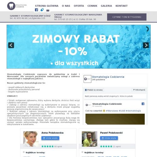 Piaskowanie zębów - Warszawa