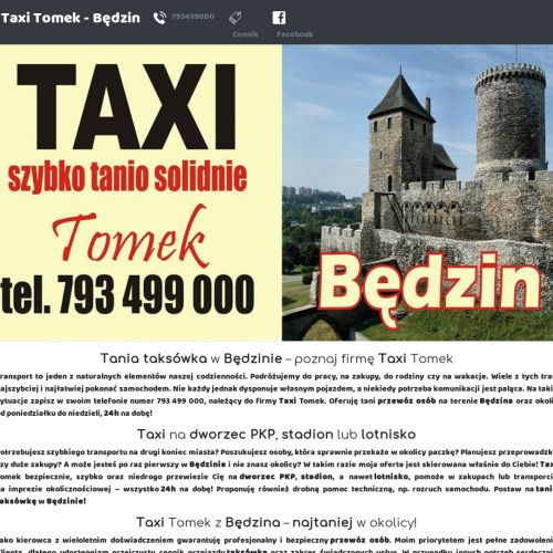 Tania taksówka 24h w Będzinie