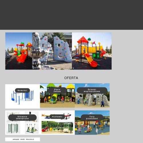 Elementy plastikowe placu zabaw