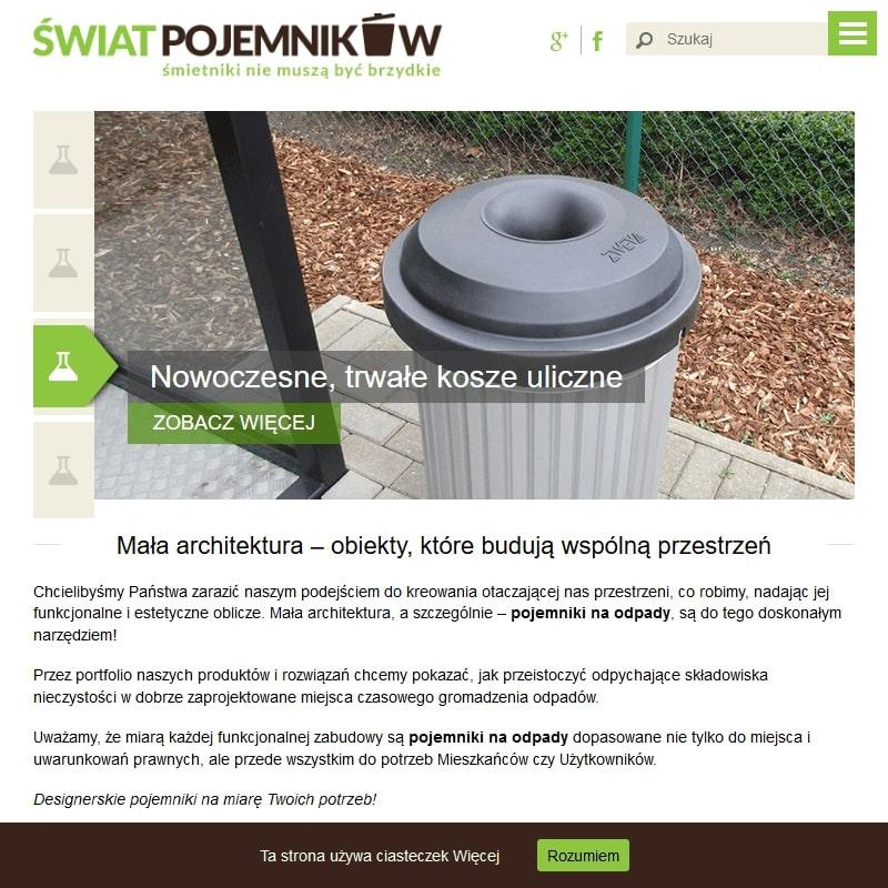 Edukacyjny pojemnik na odpady dla dzieci