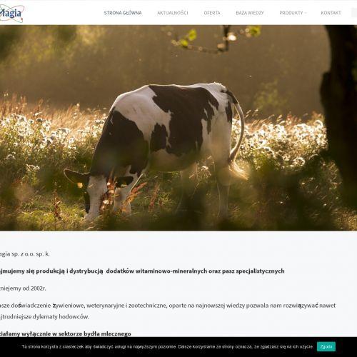 Witaminy chronione dla bydła mlecznego