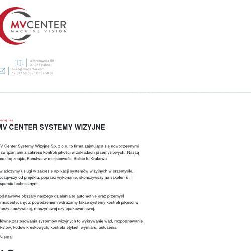 Systemy wizyjne MV Center