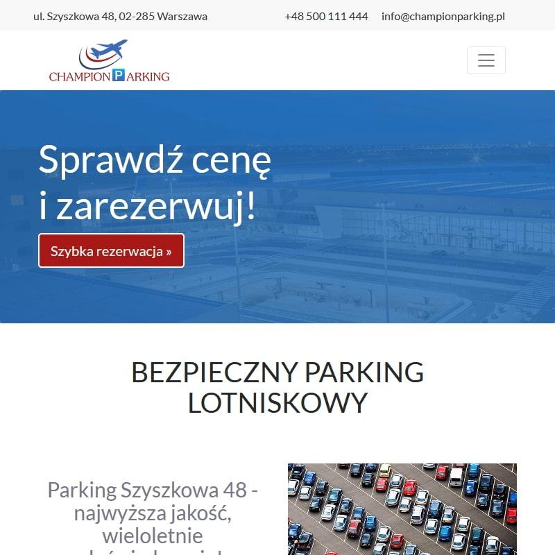 Parking krótko- lub długoterminowy na Okęciu