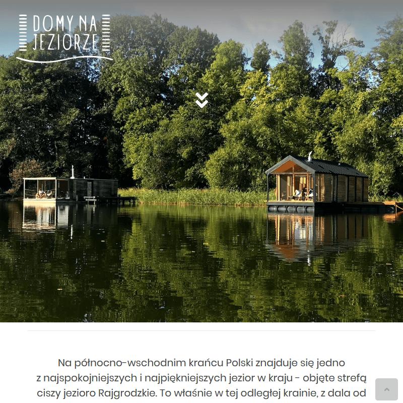 Piękne domki z widokiem na jezioro