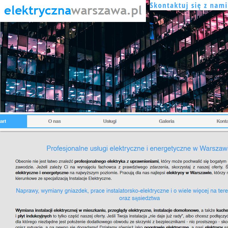 Naprawa instalacji elektrycznej - Warszawa