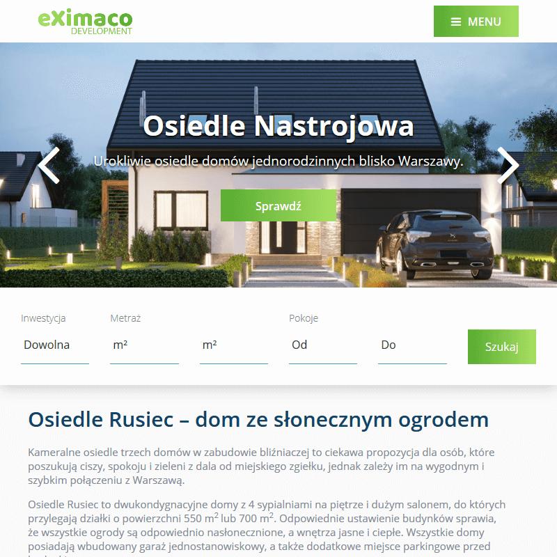 Nowy domek parterowy pod Warszawą