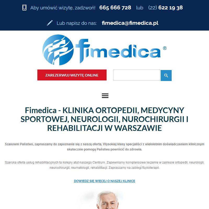 Centrum Rehabilitacji Fimedica w Warszawie