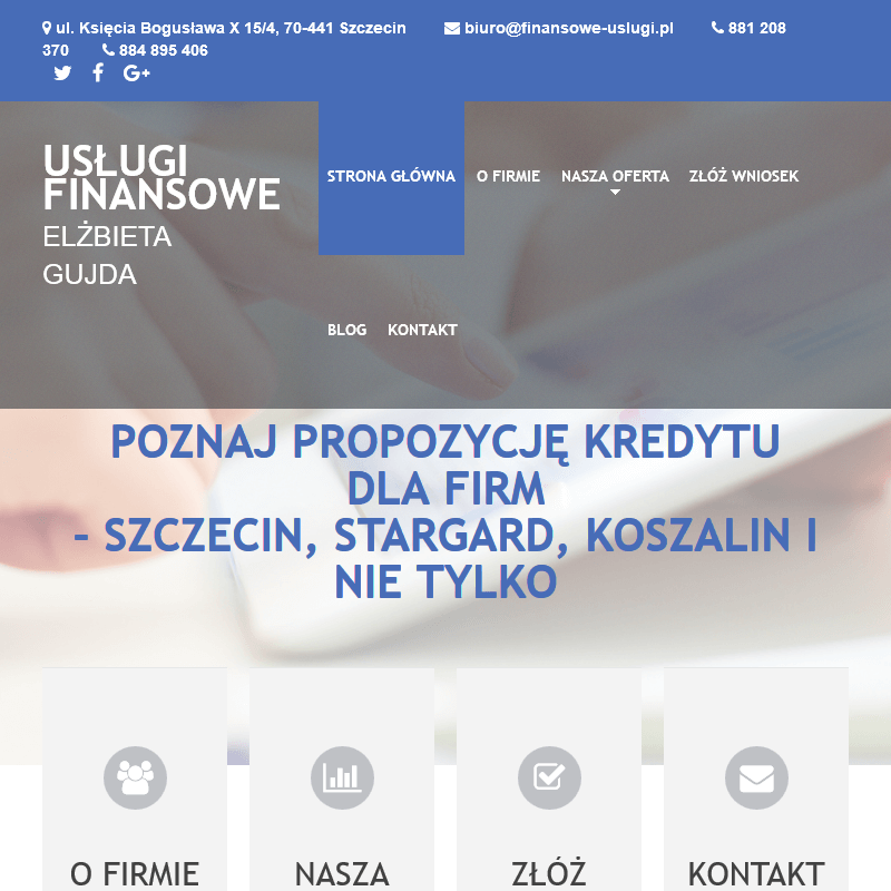 Pożyczka gotówkowa - Szczecin, Stargard, Koszalin