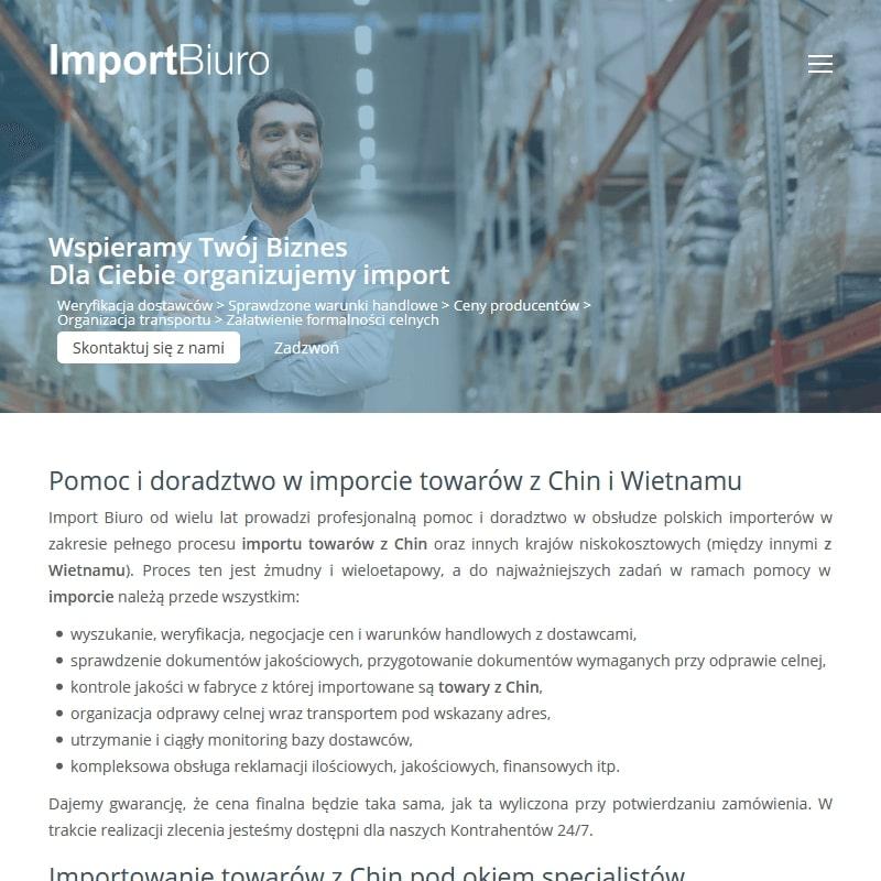 Sprowadzanie towarów z Chin i Wietnamu