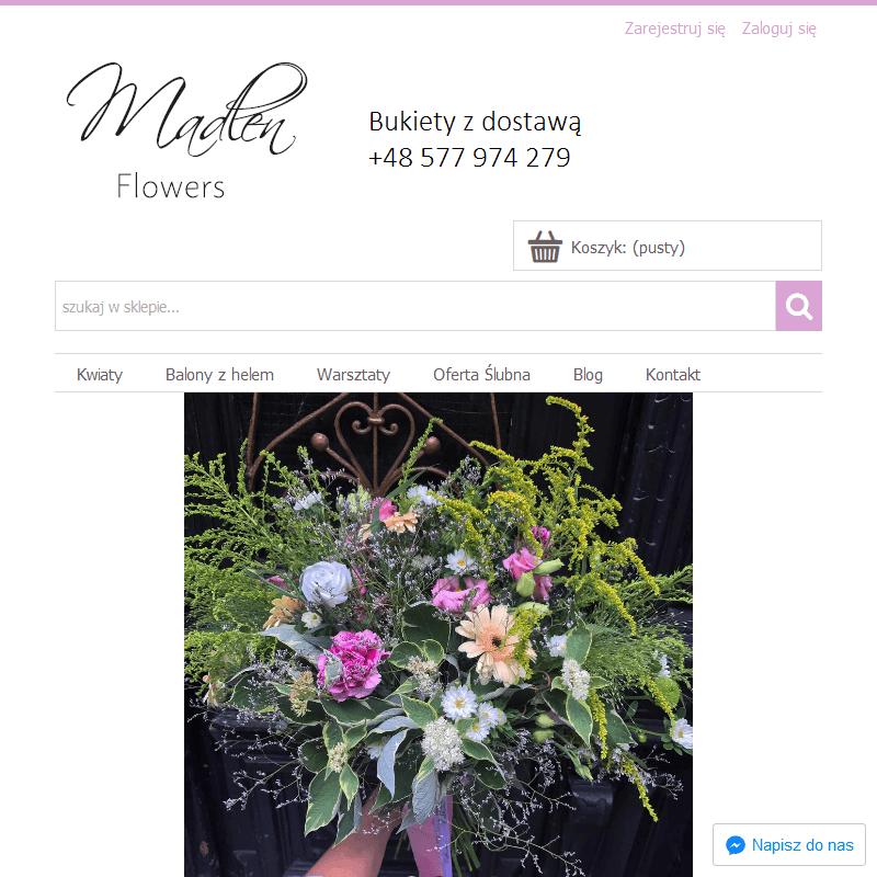 Sklep online z kompozycjami kwiatowymi
