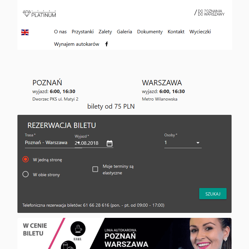 Połączenie Poznań - Warszawa