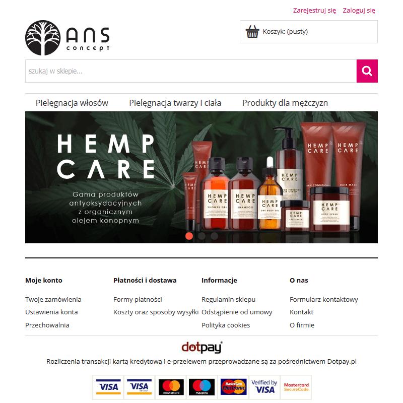 Kosmetyki z naturalnym olejkiem konopnym