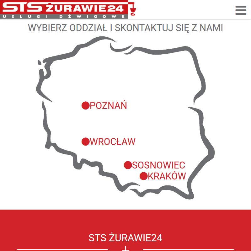 Usługi żurawiem - Kraków